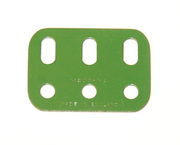 103h Flat Girder 3 Hole Light Green Original