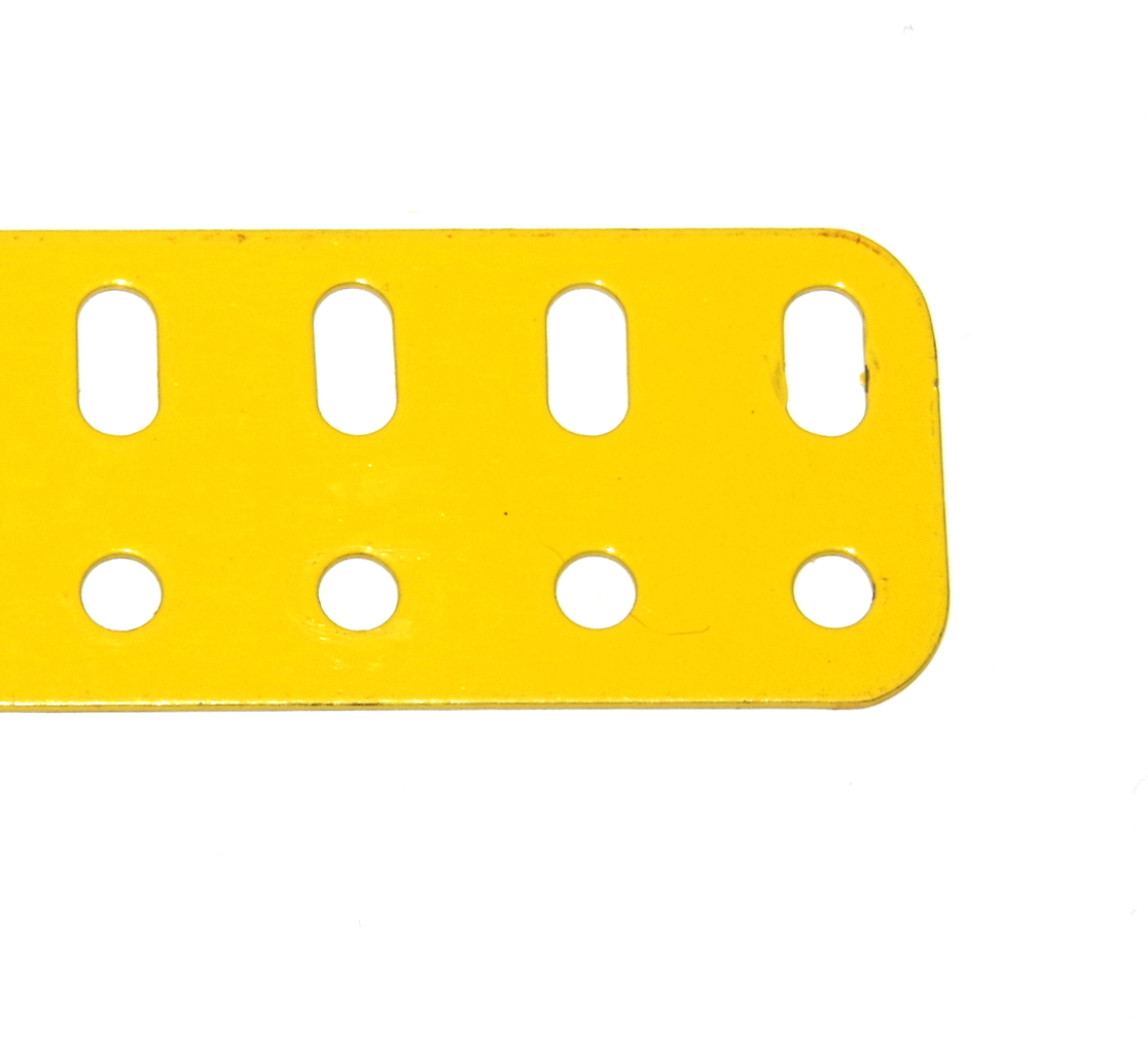 103d Flat Girder 7 Hole French Yellow Original