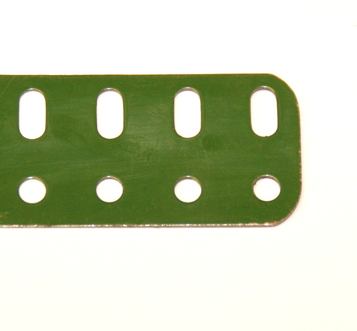 103c Flat Girder 9 Hole Mid Green Original