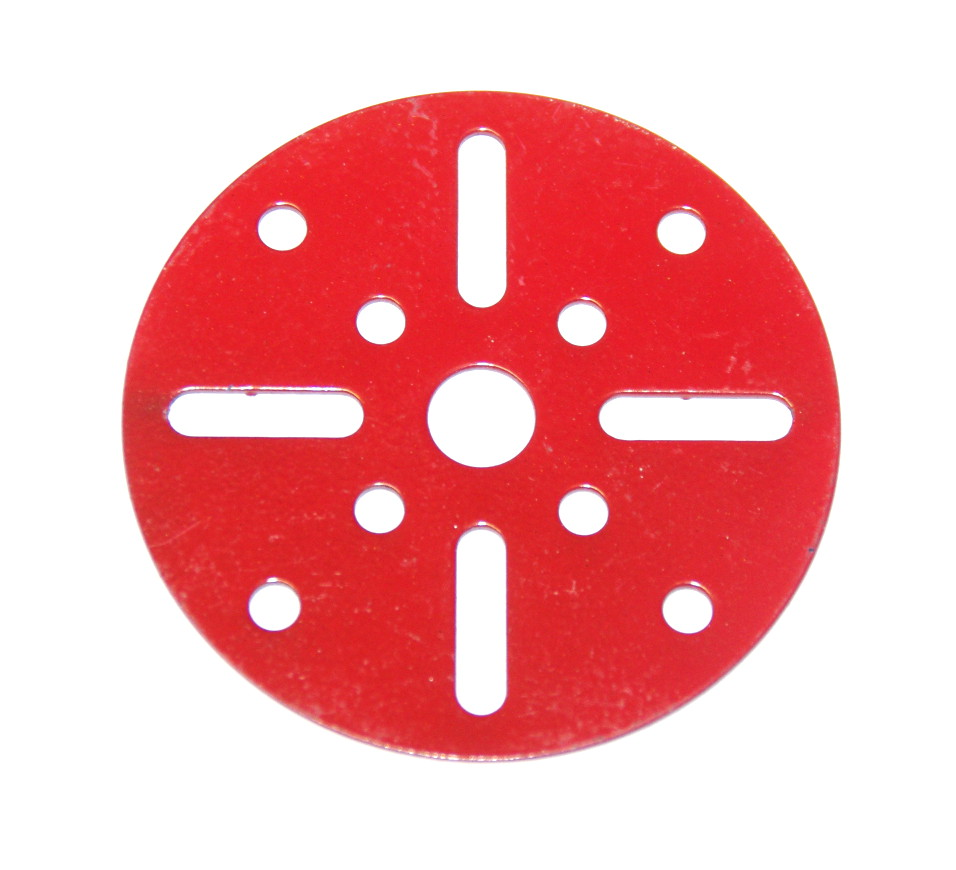 109a Face Plate 2½'' without Boss Red