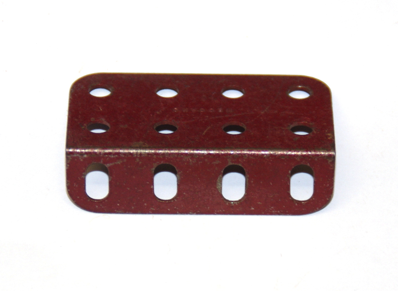 161 L Girder 4 Hole Dark Red Original