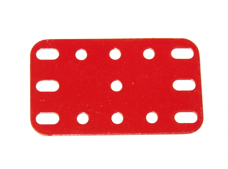 188 Flexible Plate 5x3 Red