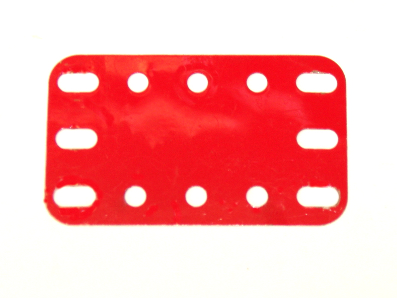 188 Flexible Plate 5x3 Mid Red Original