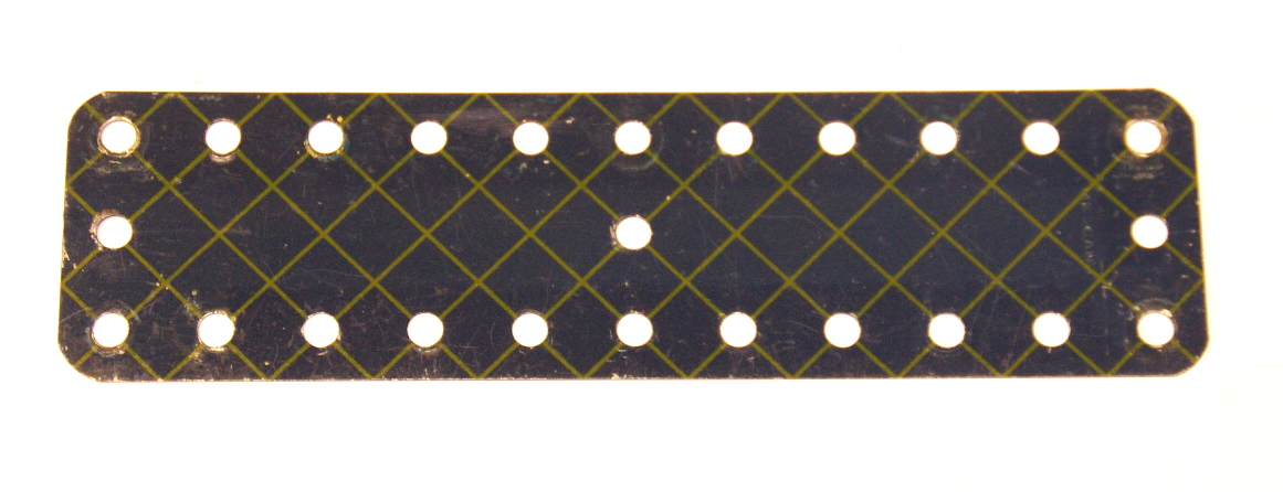 189 Flexible Plate 11x3 Blue and Gold Original