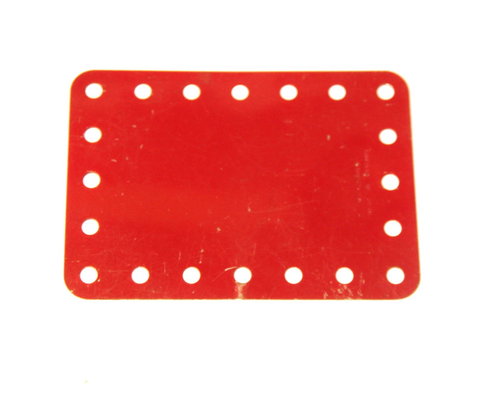 190a Flexible Plate 5x7 No Slots Red Original