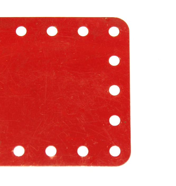 196 Flexible Plate 5x19 Hole No Slots Red Original