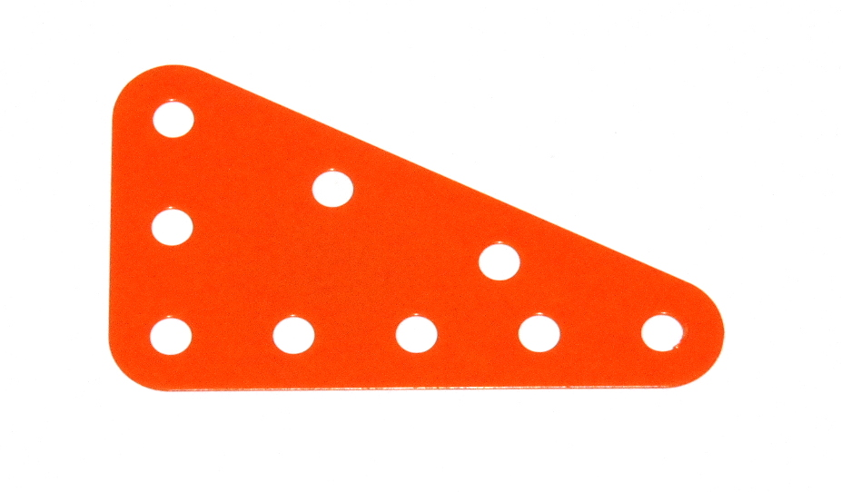 221 Flexible Triangular Plate 5x3 Orange Original