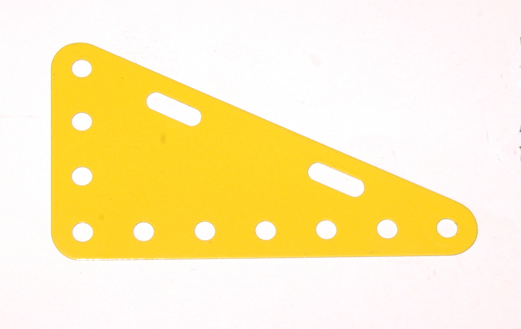 225 Flexible Triangular Plate 7x4 French Yellow Original