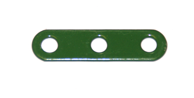235g Narrow Strip 3 Hole Green