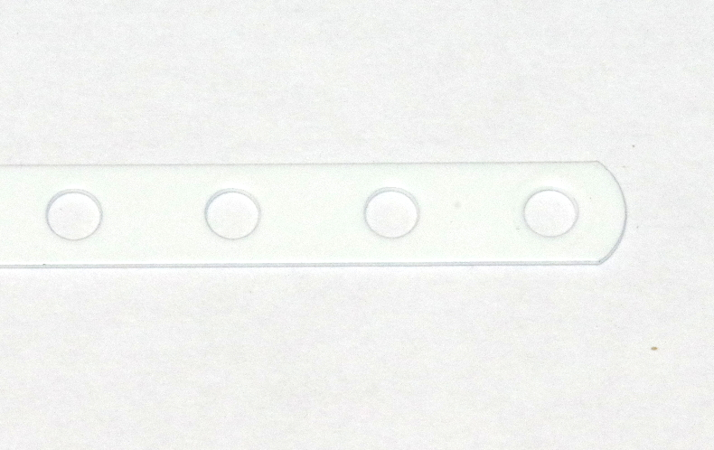 235a Narrow Strip 6 Hole White Original