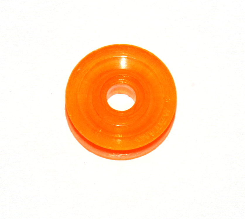 23bp ½'' Pulley Without Boss Transparent Orange Plastic Original