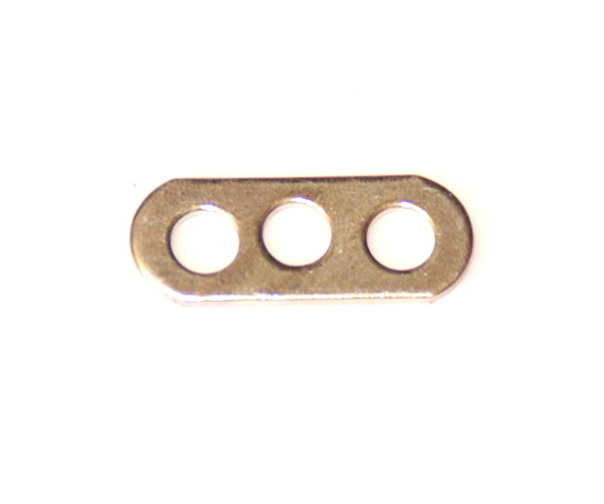 247c Narrow Connector Strip 3 Hole 7/8'' Zinc