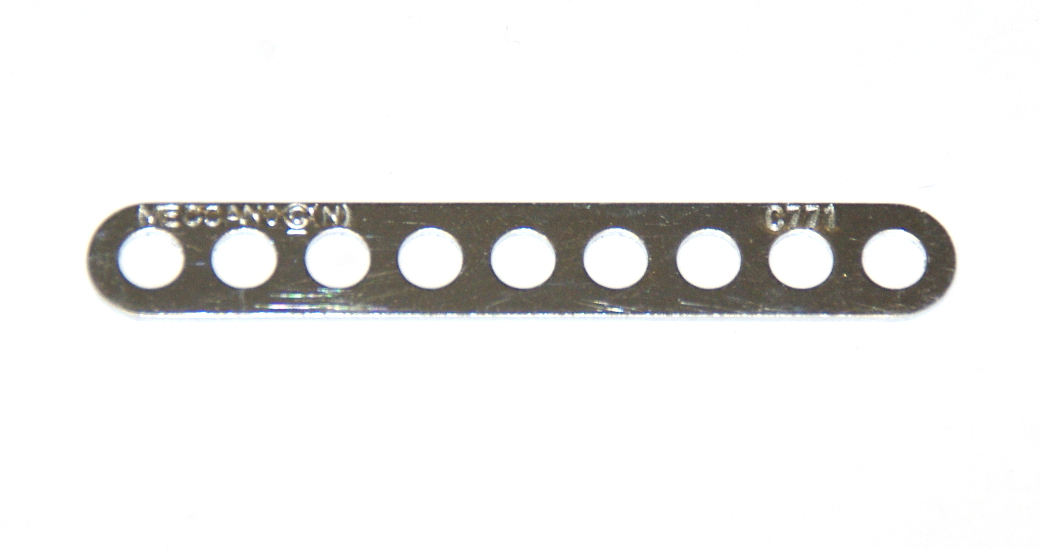 247d Narrow Connector Strip 9 Hole 2 3/8'' Zinc Original