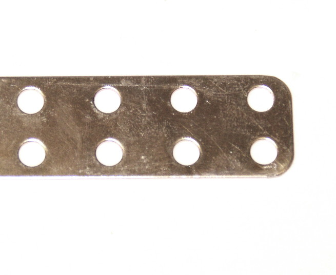 280g Narrow Flat Girder 9 Hole Zinc