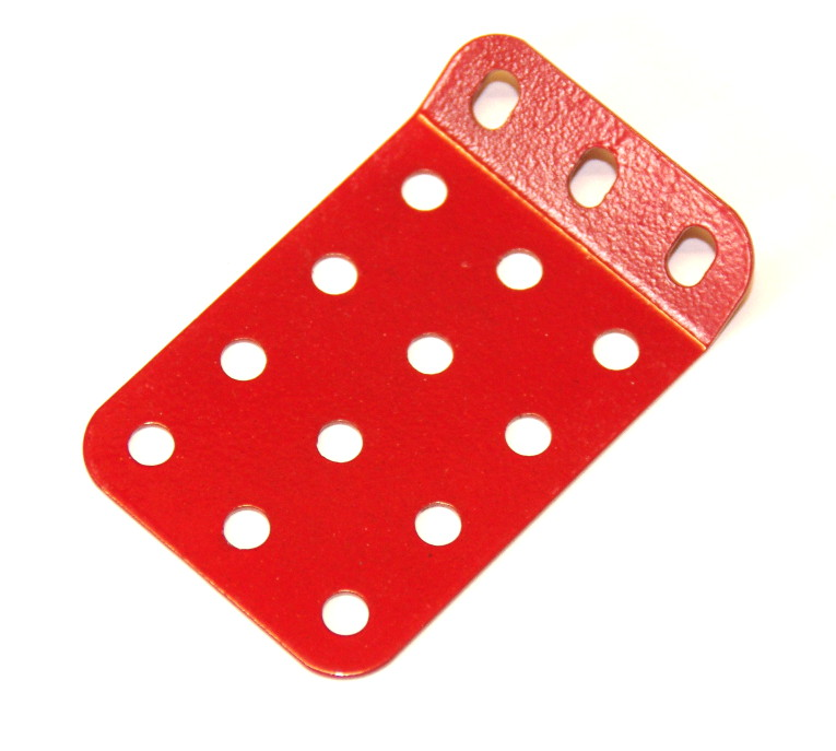51g Single Obtuse Flanged Plate 5x3 Hole Red