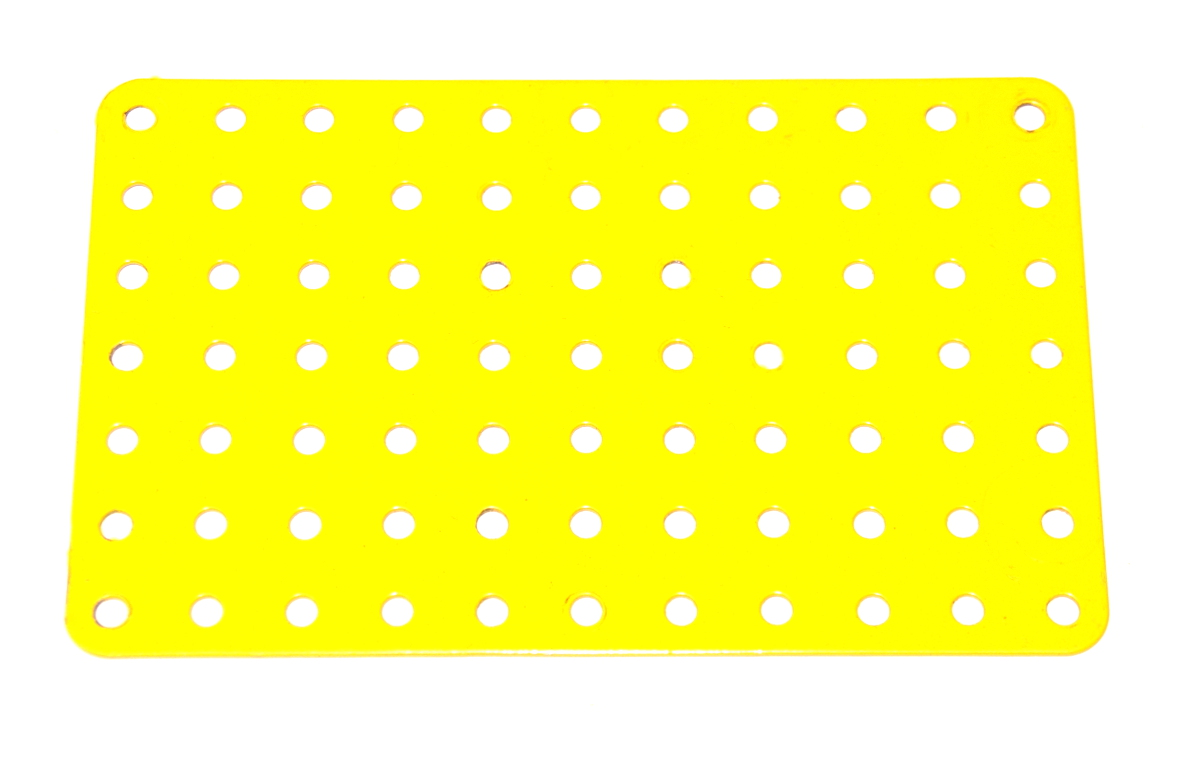 52a Flat Plate 11x7 Hole French Yellow Original