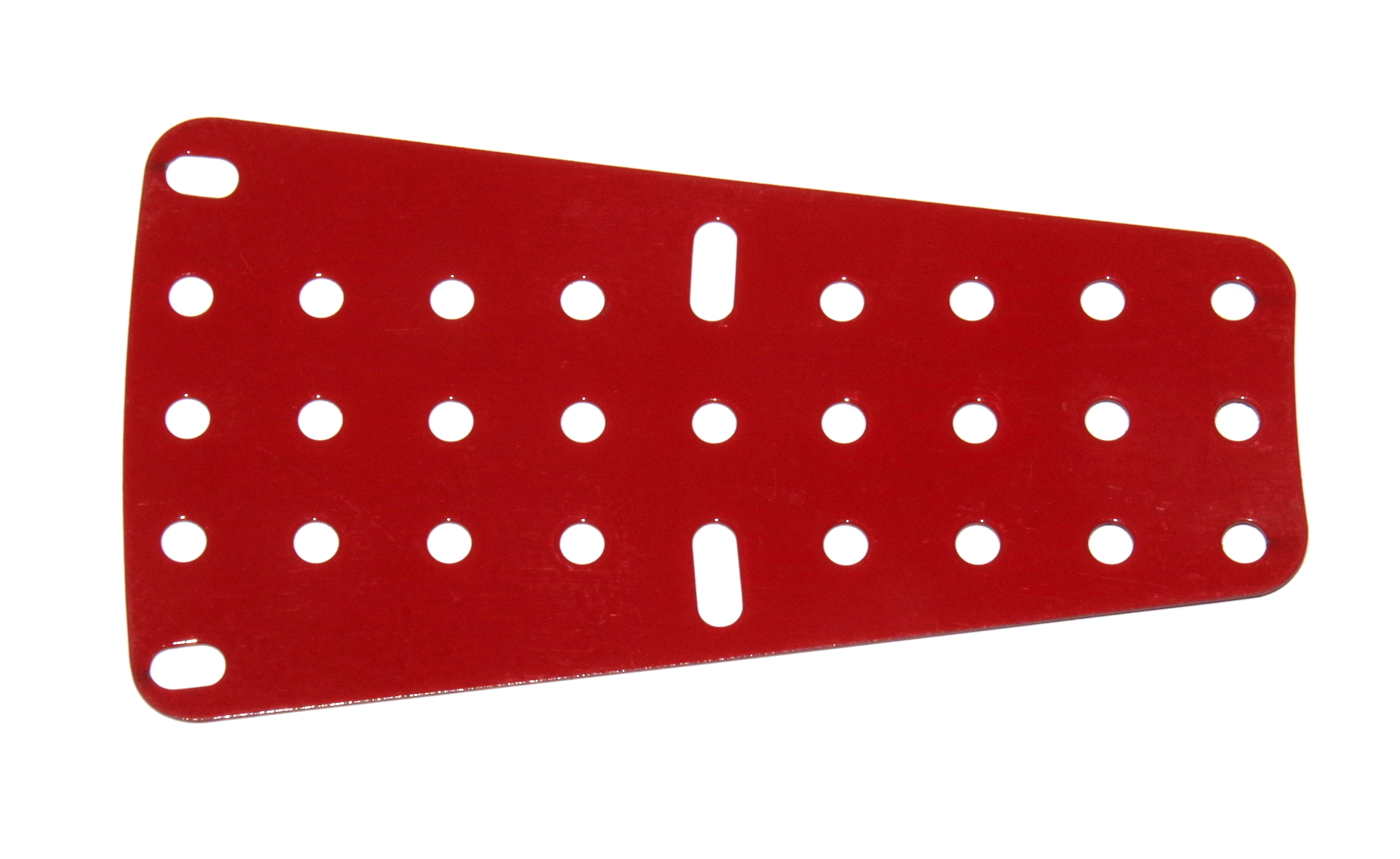 54a Flat Sector Plate 9x5 Mid Red Original