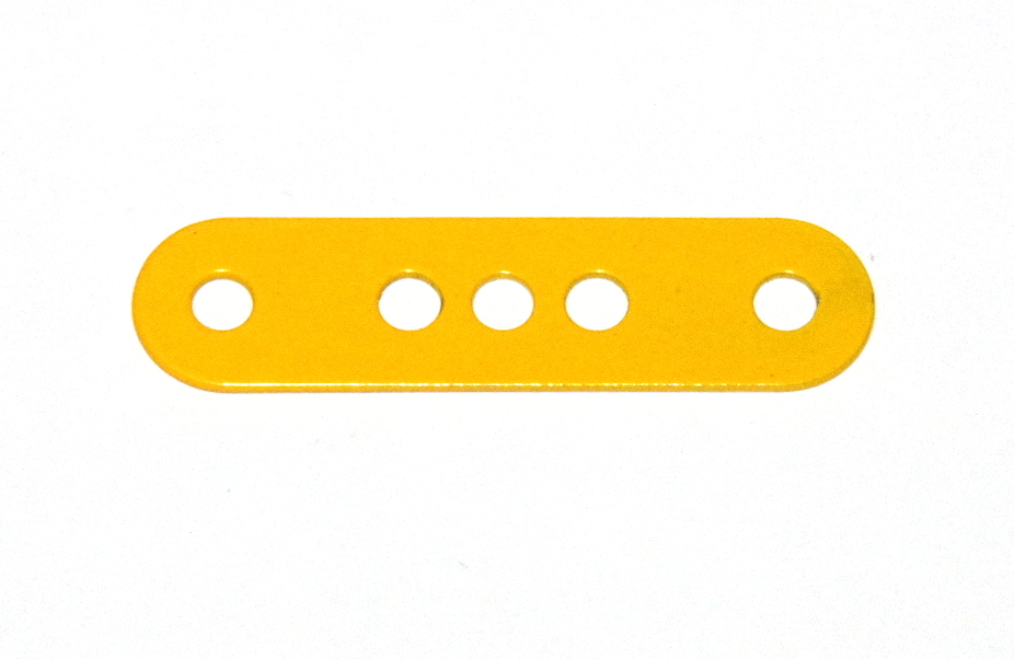 6 Standard Strip 4 Hole 1-3-1 French Yellow Original