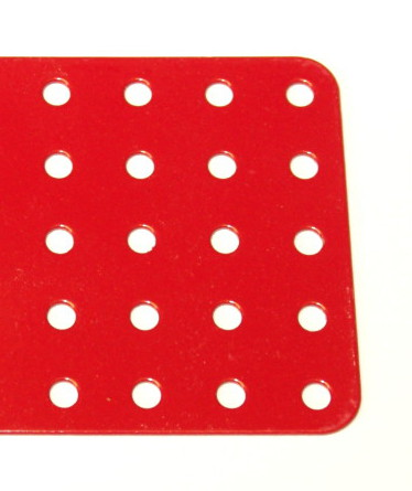 75c Flat Plate 5x25 Hole Red