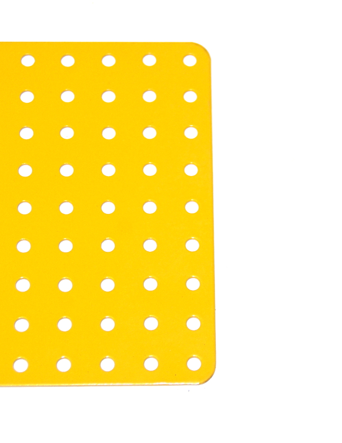 71d Flat Plate 9x25 Hole UK Yellow