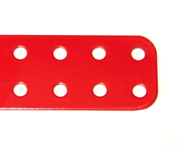 73f Flat Plate 2x7 Hole Red