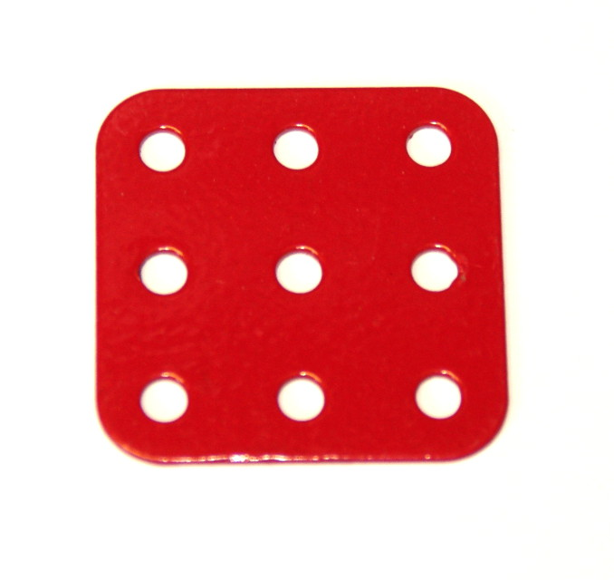 74 Flat Plate 3x3 Hole Red