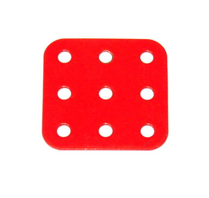 74 Flat Plate 3x3 Hole Mid Red Original