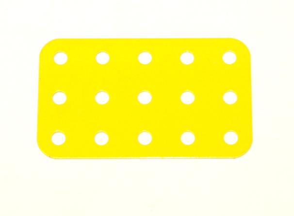 Meccano Part 74b Flat Plate 3x5 Hole Red
