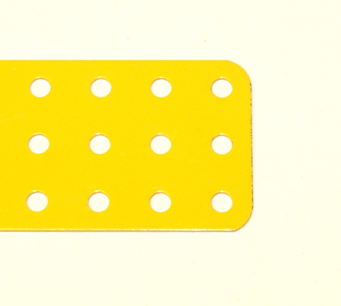 74d Flat Plate 3x9 French Yellow