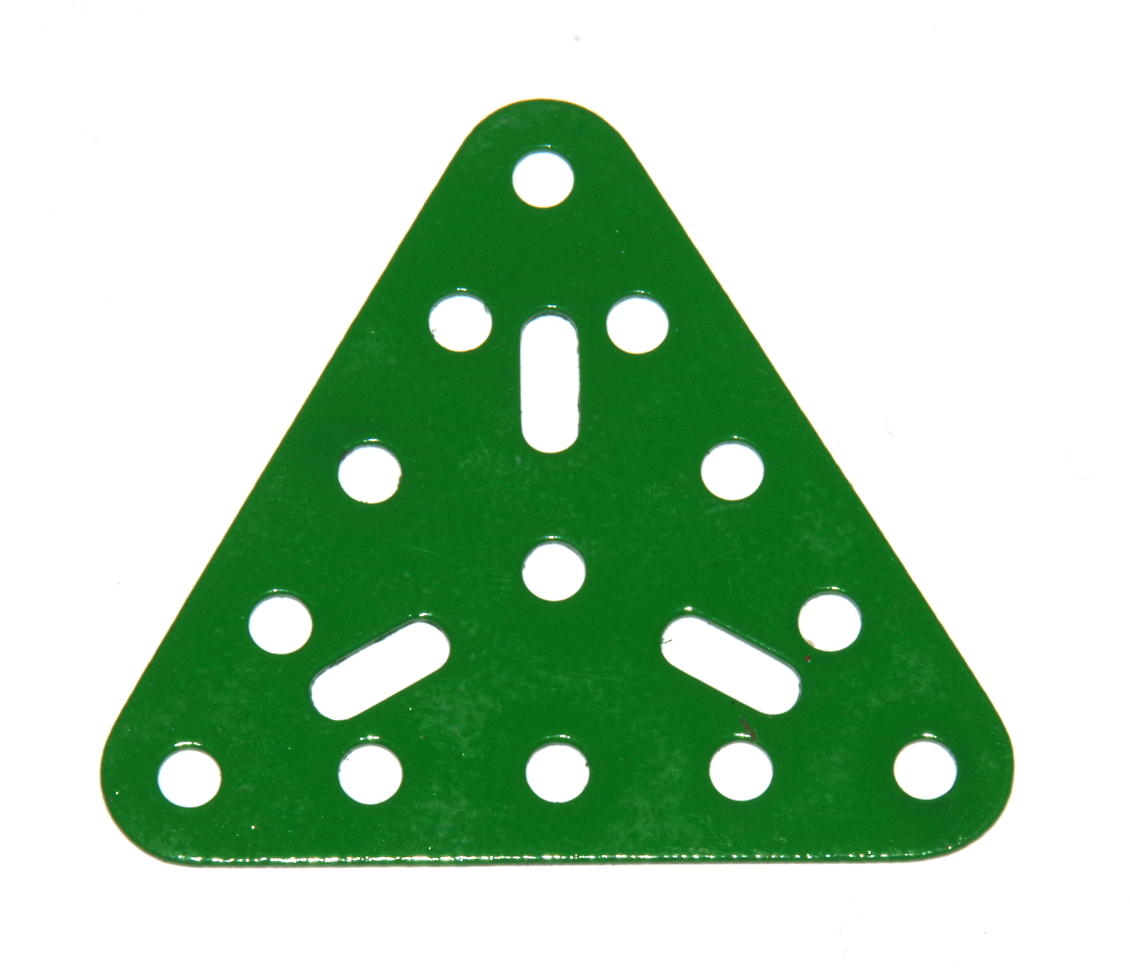 76 Triangular Plate 5x5x5 Hole Light Green