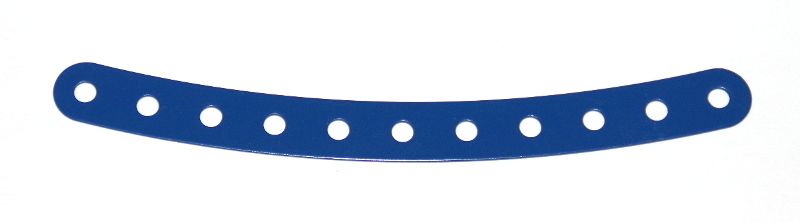 89 Curved Strip 11 Hole Blue Original