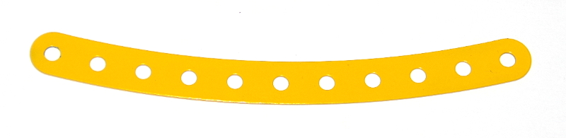 89 Curved Strip 11 Hole French Yellow Original