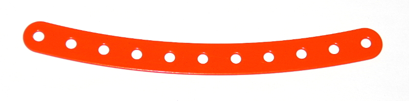 89 Curved Strip 11 Hole Orange Original