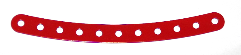 89 Curved Strip 11 Hole Red Original