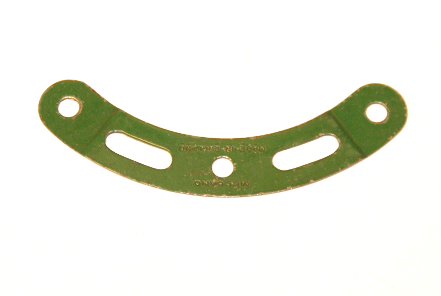 89a Curved Strip 3 Hole 2 Slot Stepped Mid Green Original