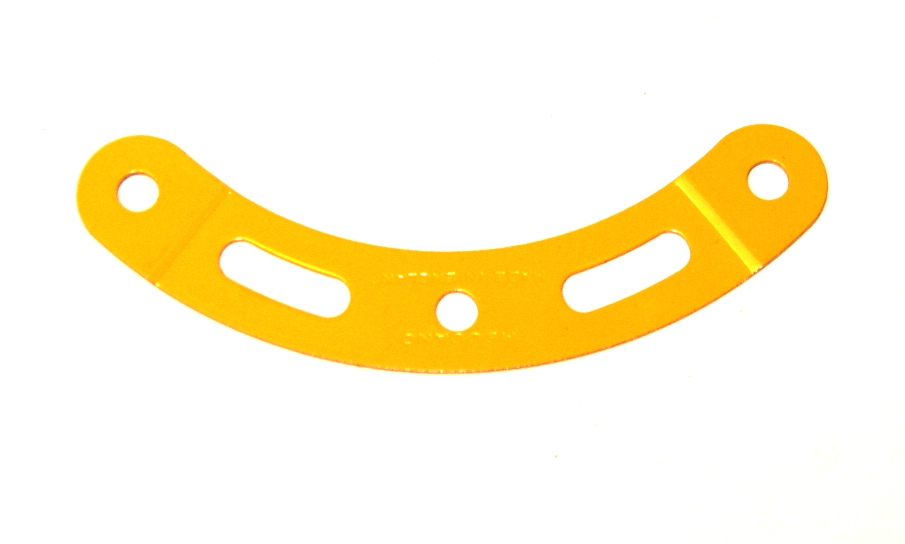89a Curved Strip 3 Hole 2 Slot Stepped UK Yellow Original