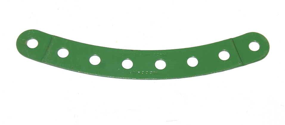 89b Curved Strip 8 Hole Stepped Light Green Original