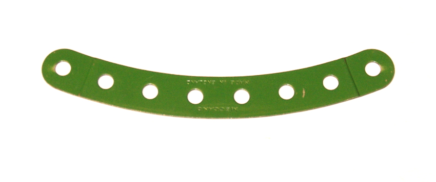 89b Curved Strip 8 Hole Stepped Mid Green Original