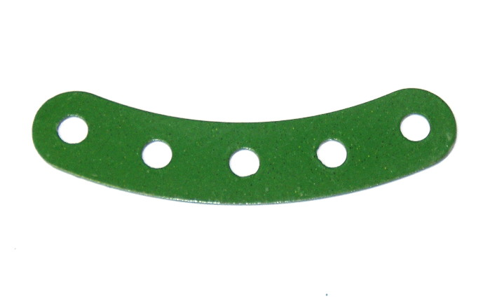 90 Curved Strip 5 Hole Green