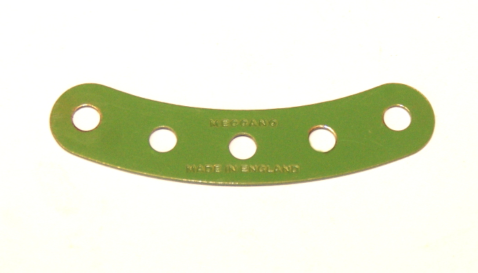 90 Curved Strip 5 Hole Light Green Original