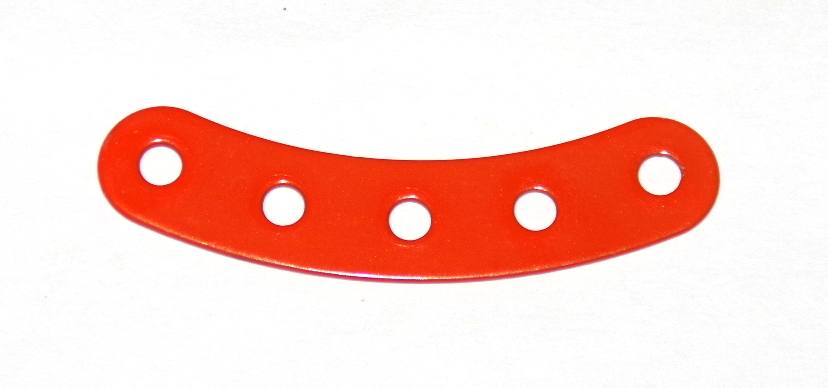 90 Curved Strip 5 Hole Orange Original
