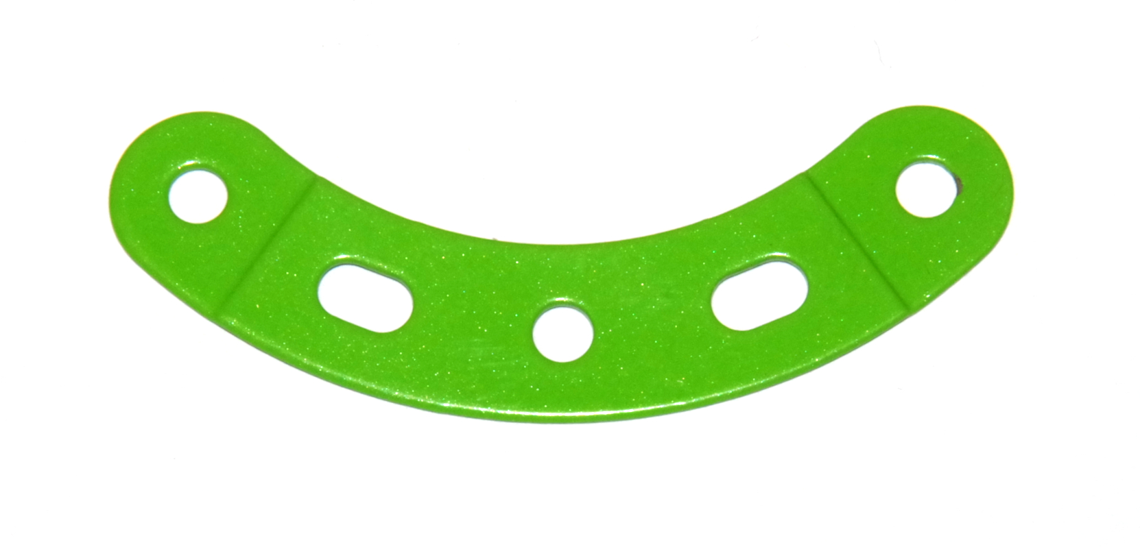 90a Curved Strip 3 Hole 2 Slot Fluorescent Green Original