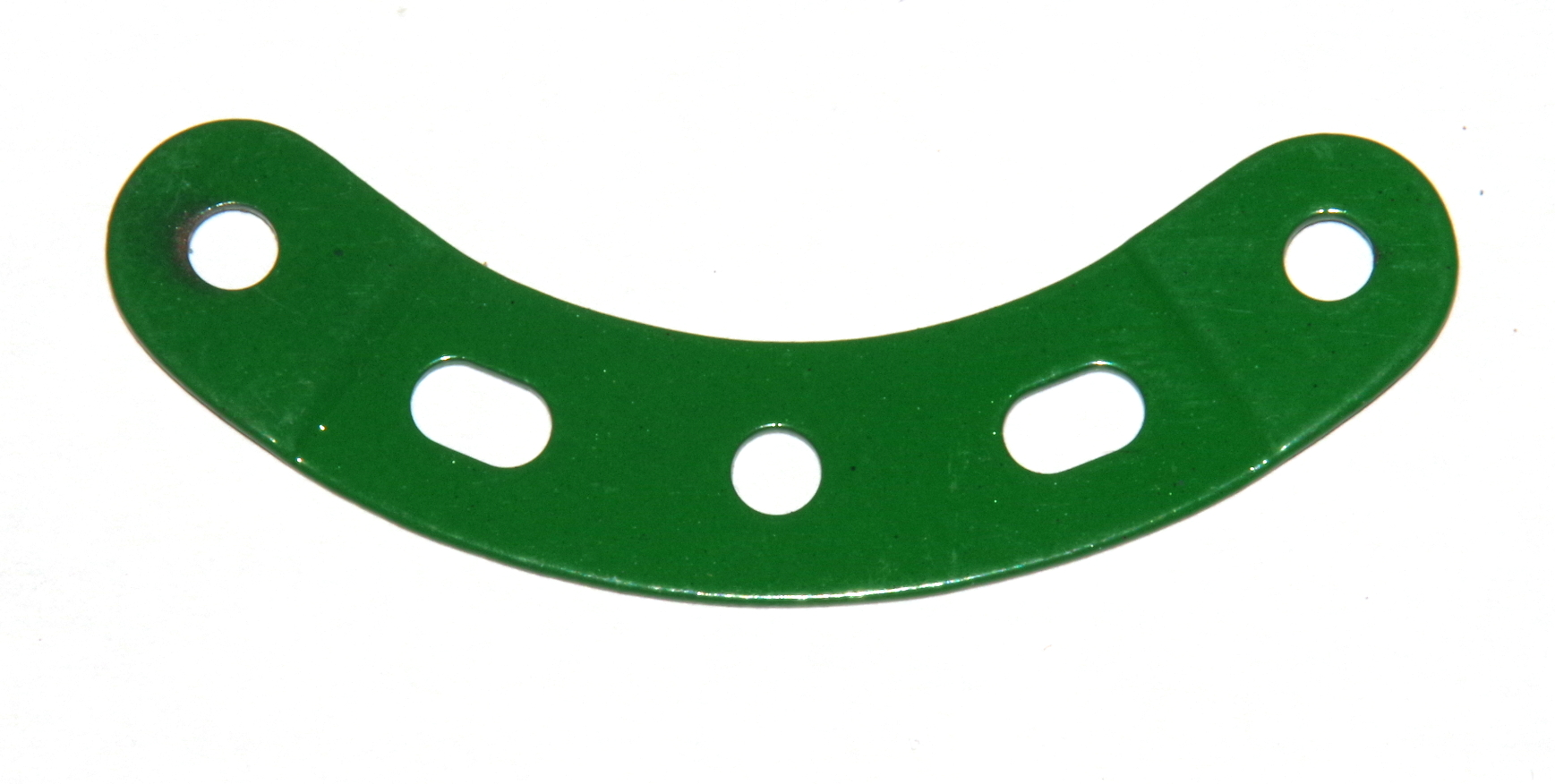 90a Curved Strip 5 Hole Stepped 2½'' Light Green