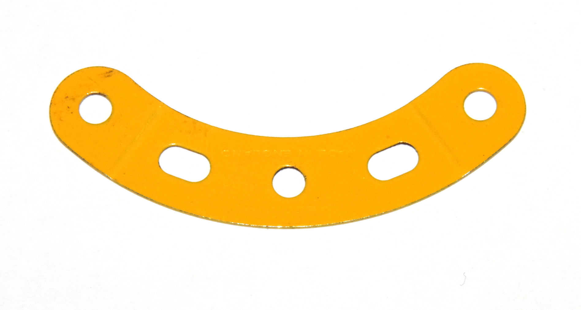 90a Curved Strip 3 Hole 2 Slot UK Yellow Original