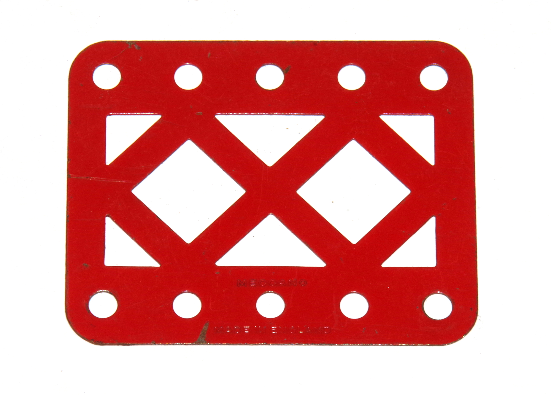 98DC Double Braced Girder 5 Hole Light Red Original
