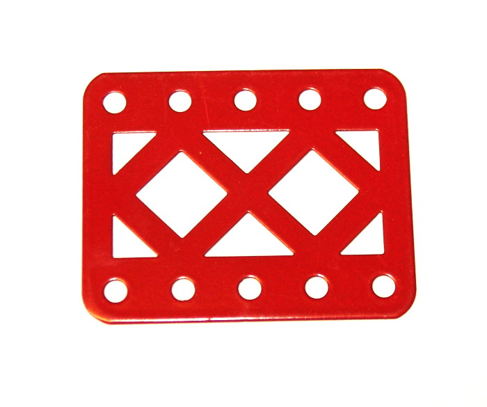 98DC Double Braced Girder 5 Hole Red