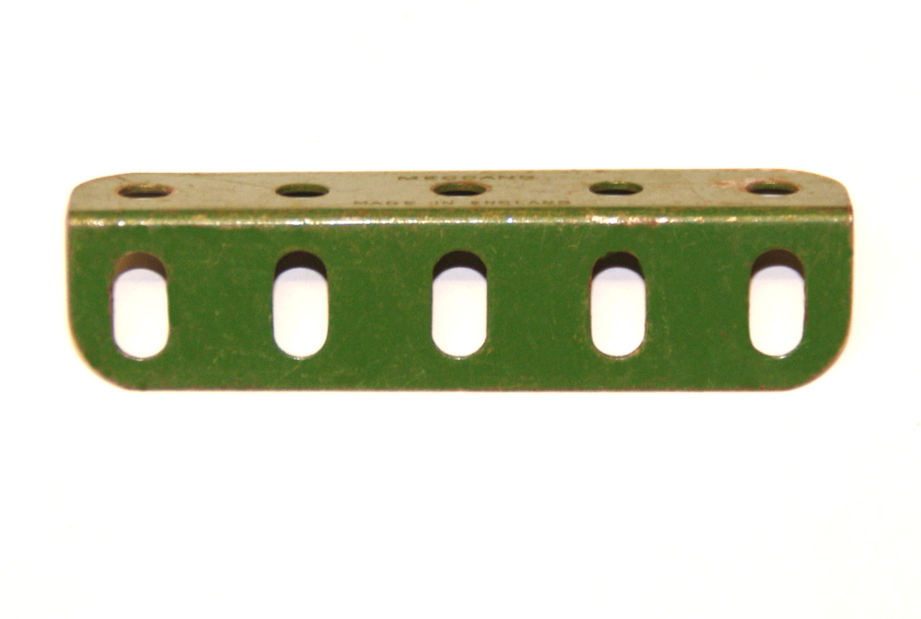 9d Angle Girder 5 Hole Mid Green Original