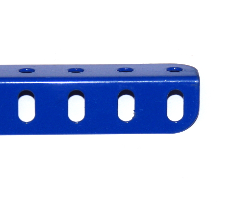 9b Angle Girder 7 Hole Blue Original