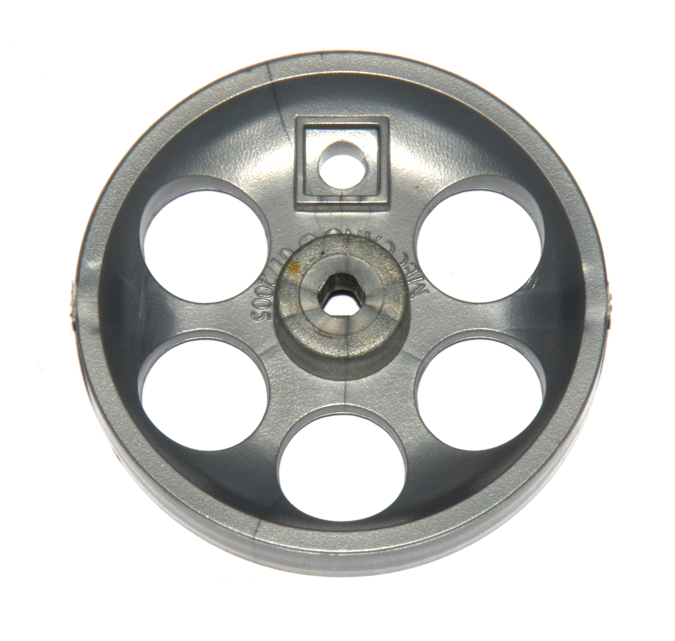 B452 Locomotive Wheel 2'' Silver Plastic Triflat Original