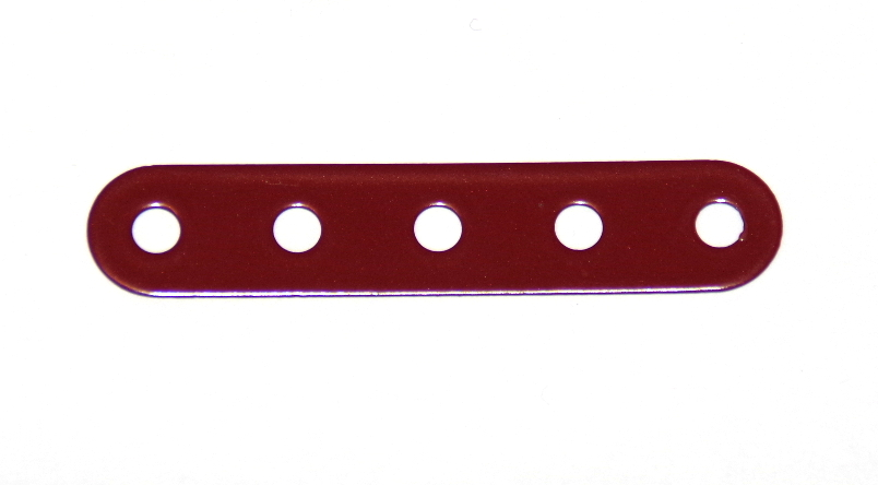 B487 Flexible Strip 5 Hole Dark Red Original